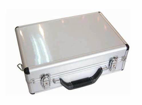 Silver Aluminum Transmitter Box Carrying Case 35cmx23cmx12cm