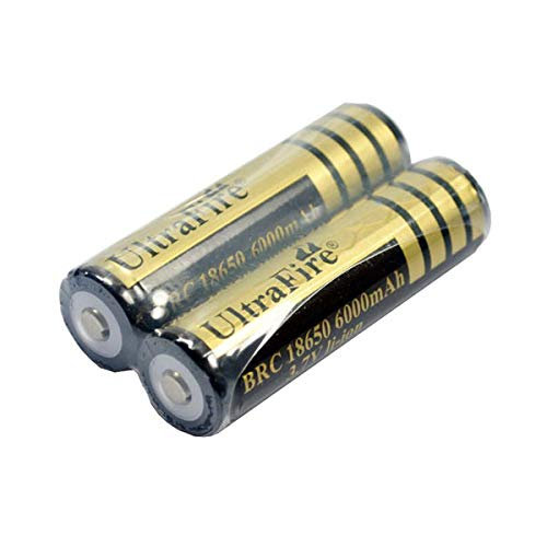 Onekbhalo Li-ion 3.7 Volt Rechargeable Battery 6000 Mah for LED Torch Flashlight