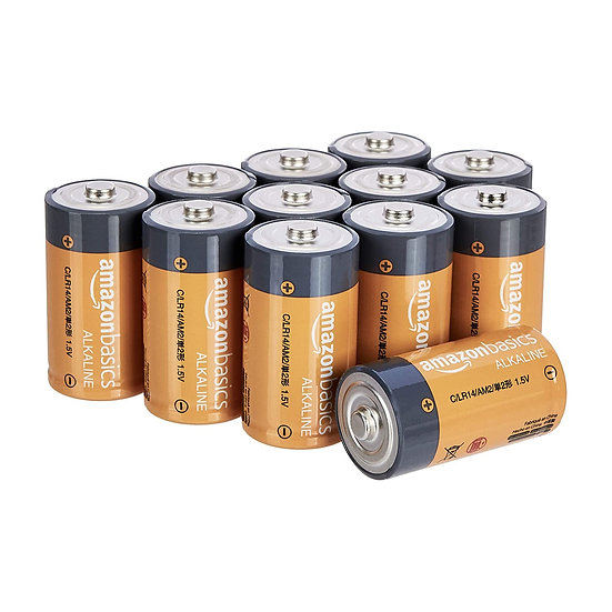 AmazonBasics C Size Cell Everyday Alkaline Batteries (12-Pack)