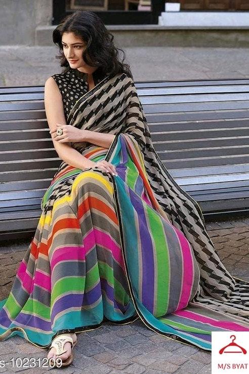 Multicolored saree