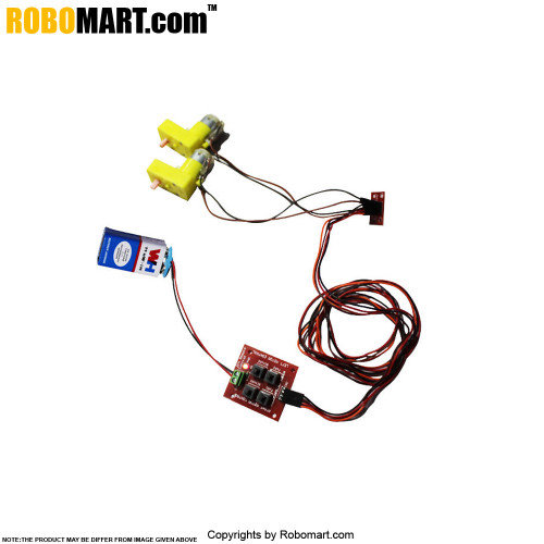 2 Channel Wired Remote Control Kit With BO Motor