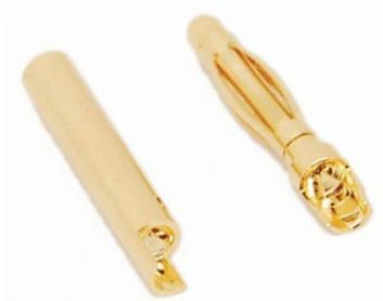 A-004 2.0mm Gold Bullet Banana Connector Plug For ESC Battery Motor A-004 2.0mm