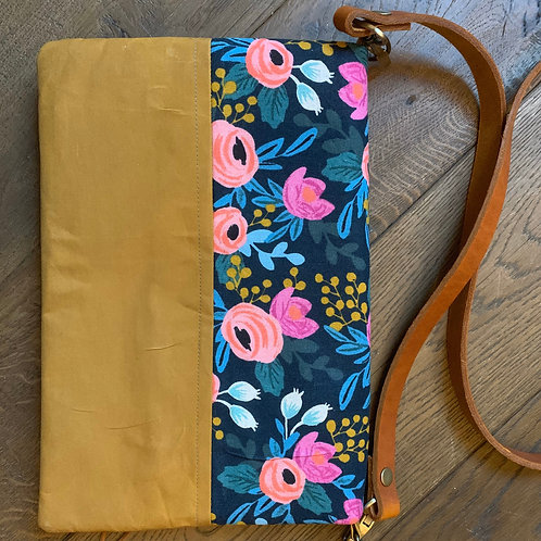 Foldover clutch bag, vegan leather, night out bag