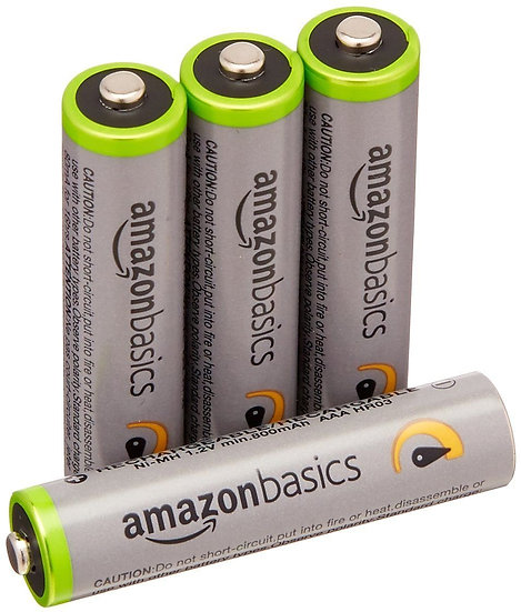 AmazonBasics 4 Pack AAA Ni-MH High Capacity Pre-Charged Rechargeable Batteries