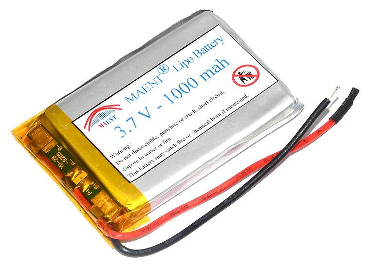 MAENT® 3.7V 1000 mah Actual capcity lipo Li ion Rechargeable Battery Lithium ion
