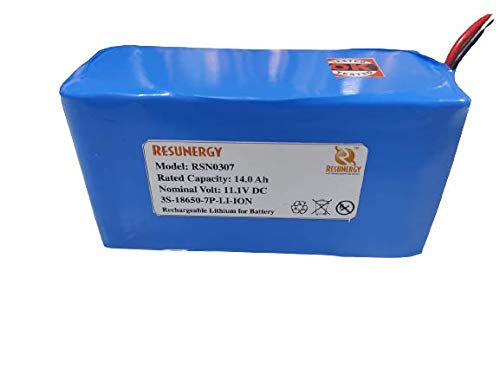 RESUNERGY™ 12v Li-Ion 18650 Battery-11.1-12.6v 14ah, Battery Type- Rechargeable