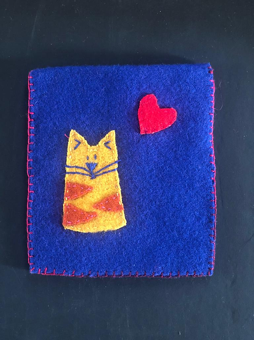 Felt Hand Embroidered Wallet