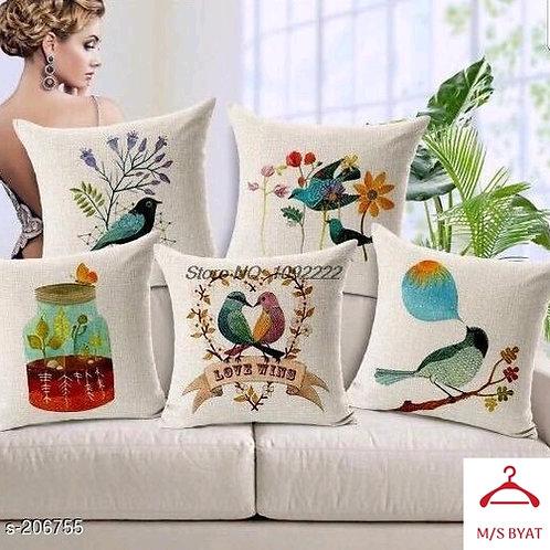 birds design printed cushion cover