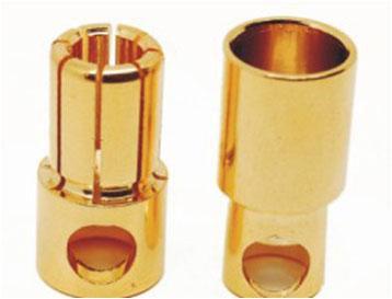 B-002 8mm Gold Bullet Banana Connector Plug For ESC Battery Motor
