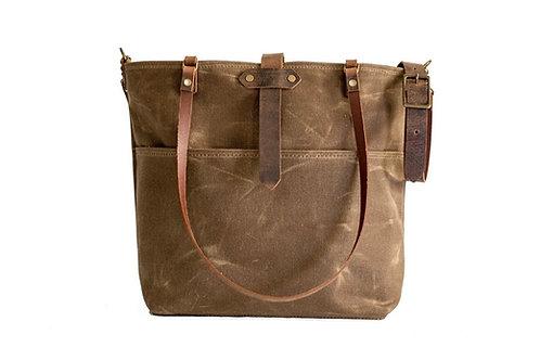 Vintage Look Waxed Bag, Canvas Bag, Shoulder Bag, Shopper, Handbag, Busi