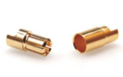 B004 8mm Gold Bullet Banana Connector Plug For ESC Battery Motor