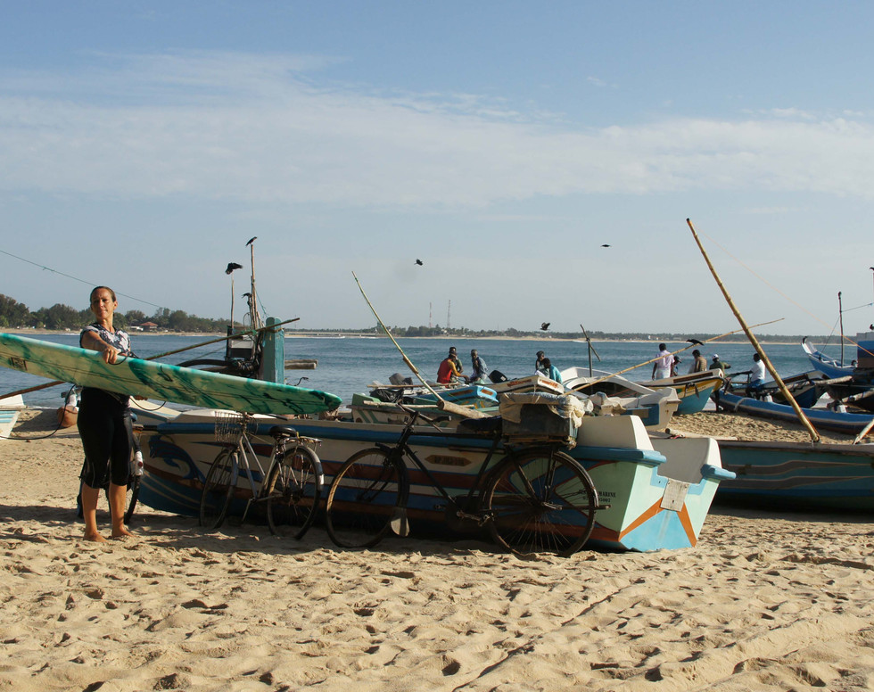 Fishery boats in Arugambay