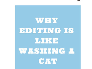 Why Editing is Like Washing A Cat
