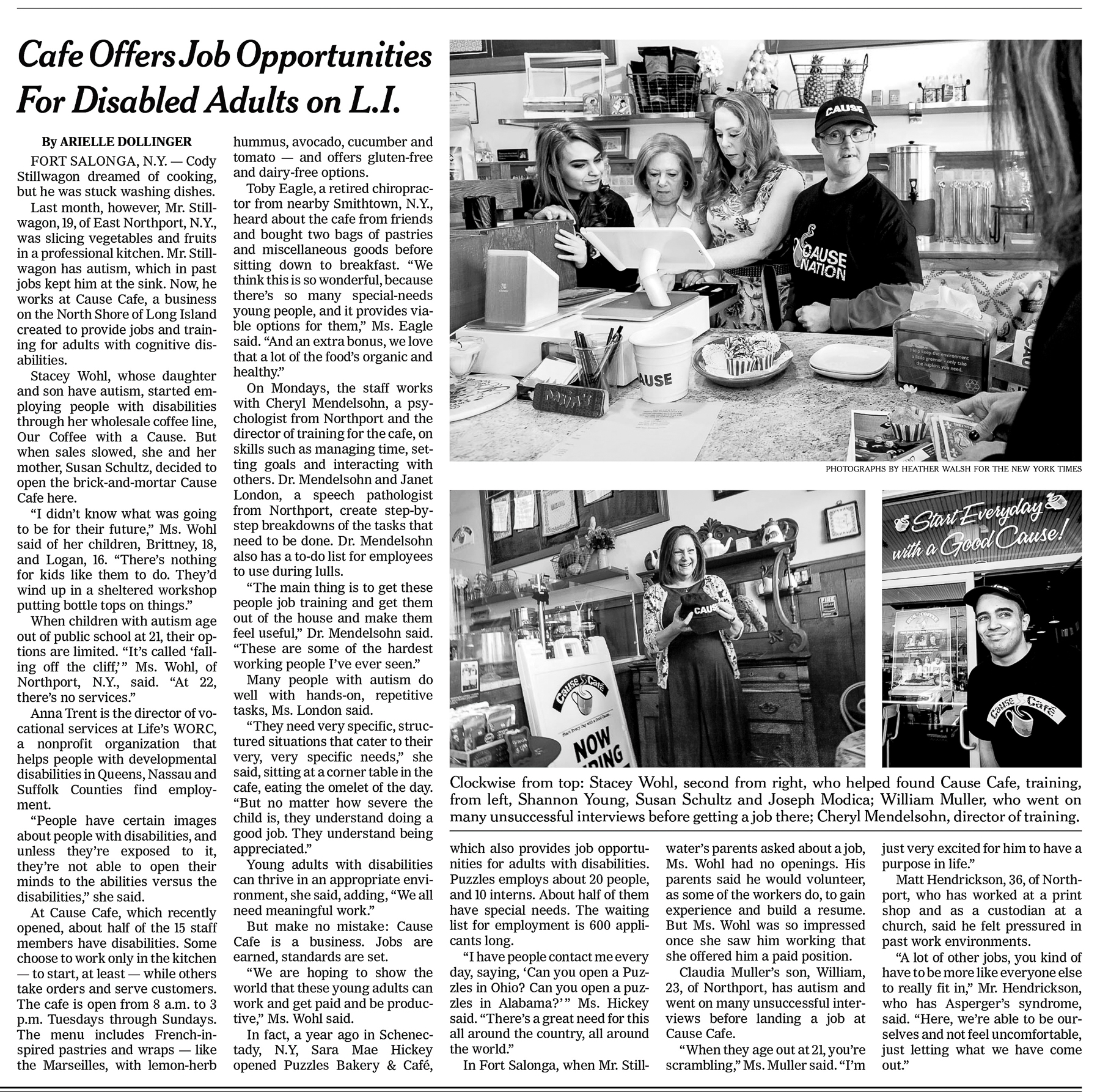 New York Times Cause Cafe