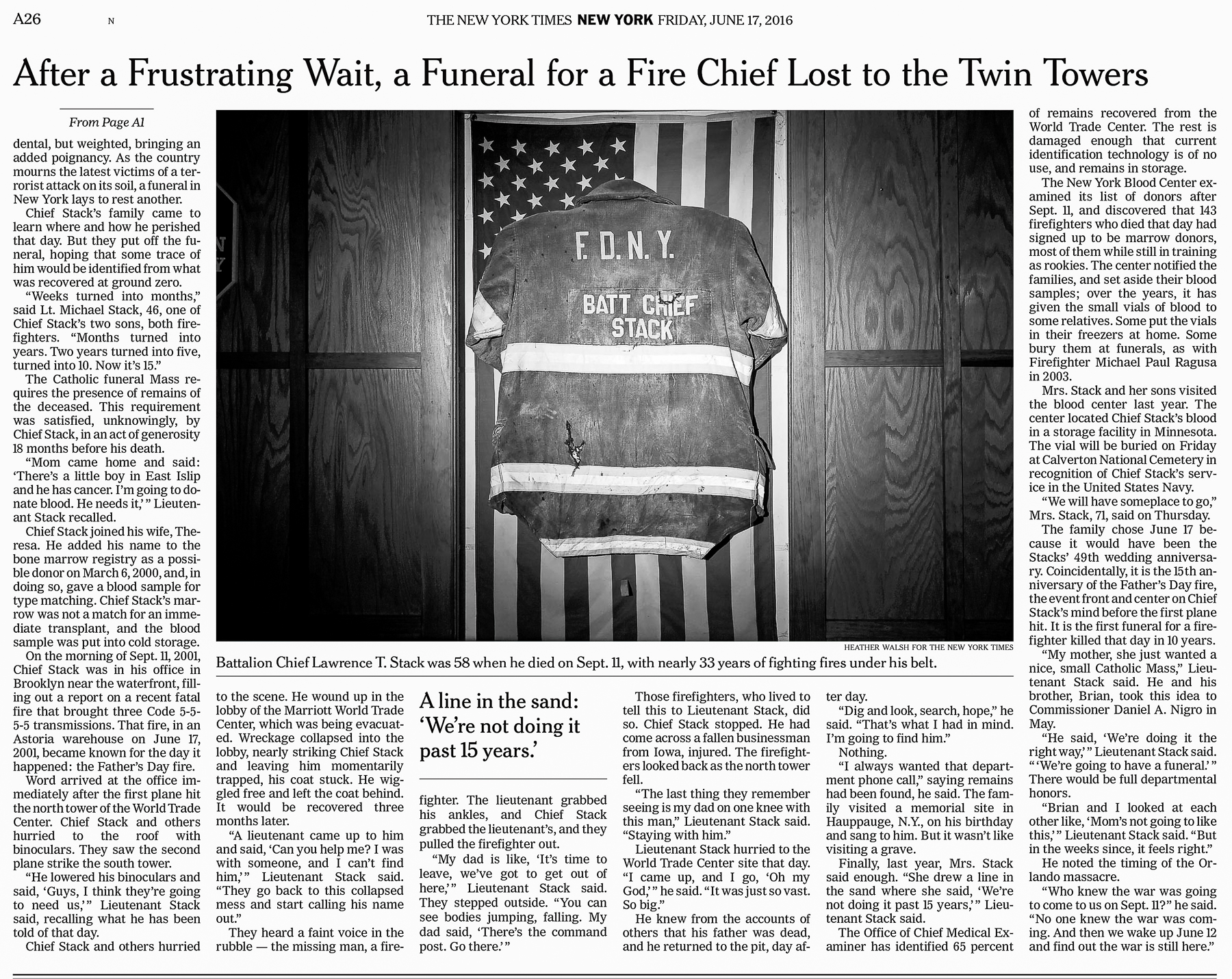 New York Times  FDNY Jacket