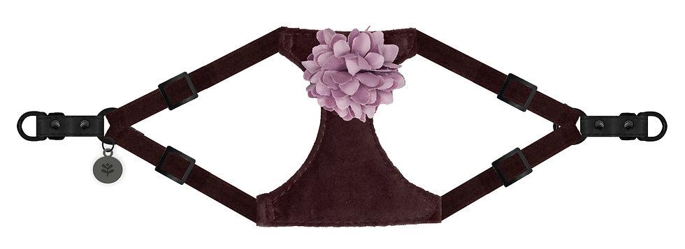 Velvet Flower Harness Pink