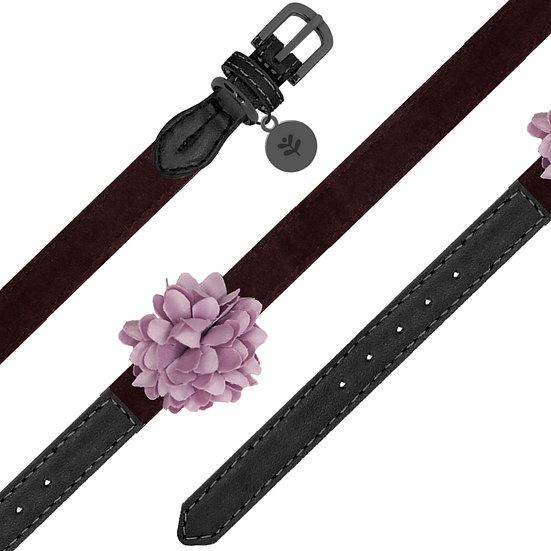 Velvet Flower Collar Pink