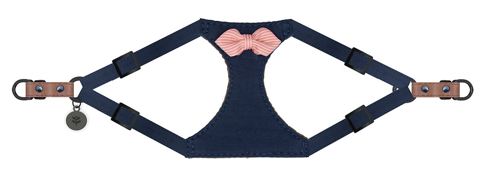 Nautical Bow Harness Navy