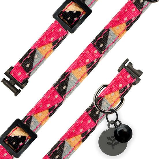Pink Geometric Cat Collar