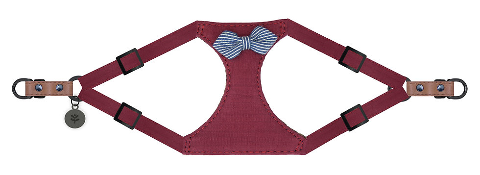 Nautical Bow Harness Red