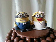 Minion MR & Mrs Cake Toppers
