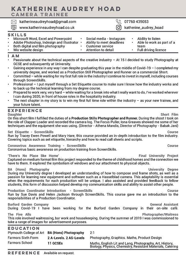 Katherine Audrey Hoad CV January 2021 -