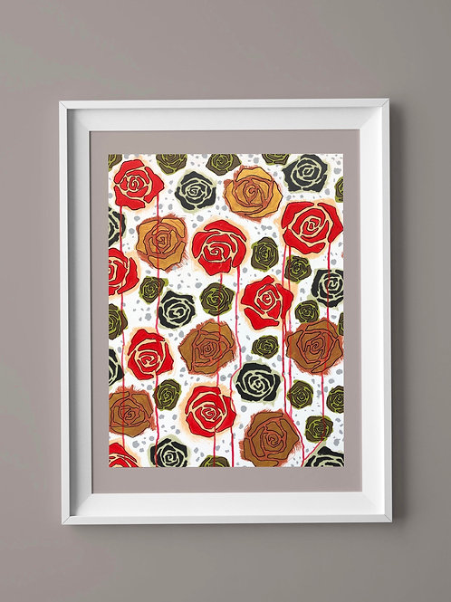 Limited Edition Print: Red Roses