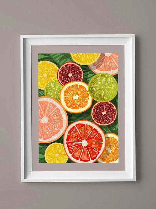 Limited Edition Print: Citrus