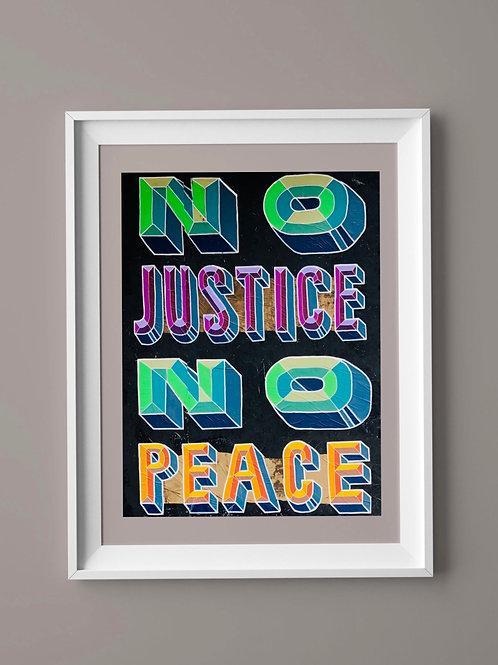 Limited Edition Print: No Justice No Peace