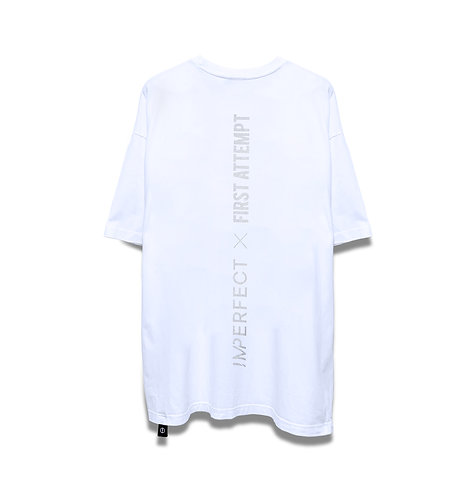 IMPERFECT X FIRST ATTEMPT OVERSIZED TEE (WT)