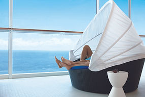 Relaxing on Celebrity Cruises Bubble Chair