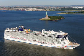 Norwegian Cruise Line ship sailing from New York