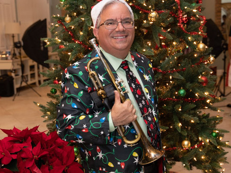 Playing the Trumpet for Christmas