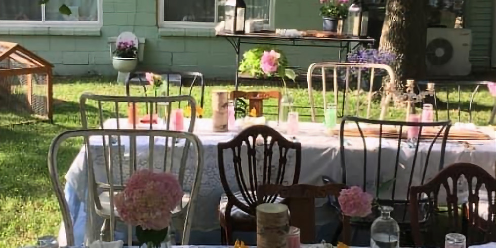 Backyard Dinner Party at the Hippie Heart