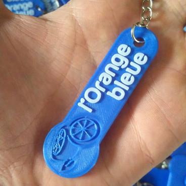 Porte-clé en impression 3D pour L'Orange Bleue