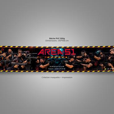 Banderole AREA-51