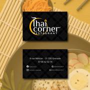 Cartes de visite Thai Corner