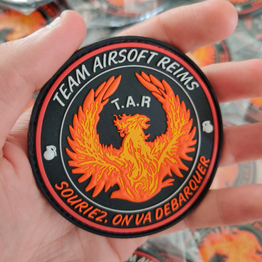 Patch PVC 3D pour Team Airsoft Reims