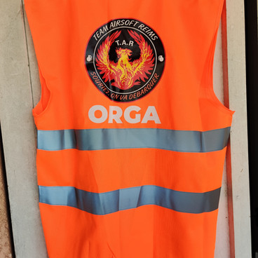 Gilet Orange Team Airsoft Reims