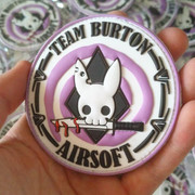 Patch PVC 3D pour Team Burton