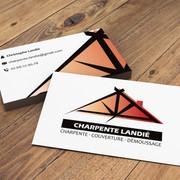 Cartes de visite pour Charpente Landié