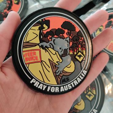 Patch PVC 3D _Pray For Australia_