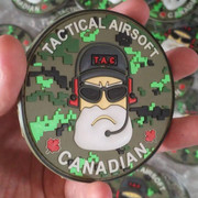 Patch PVC 3D pour Tactical Airsoft Canadian