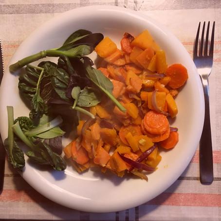 Narancssárga zöldség-kavalkád salimix-szel / Orange Veggie mix with salad mix