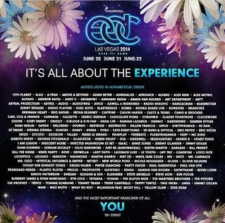 EDC Las Vegas 2014 Line Up