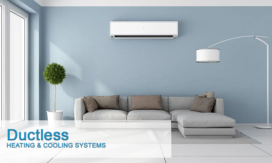 Ductless heating and cooling mini split wall unit