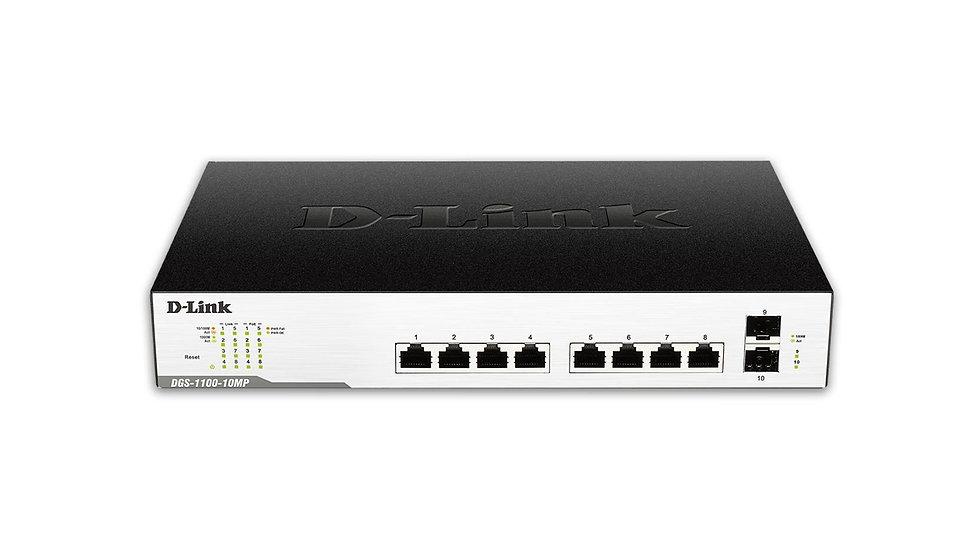 D-Link DGS-1100-10MPP PoE Switch Layer 2 Lite EasySmart Gigabit