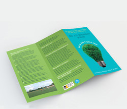 Leaflet promoting outdoor pitch