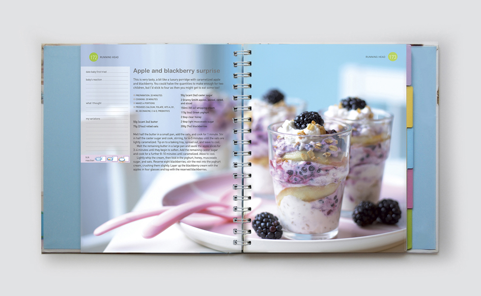 Baby and Toddler Food Diary Book