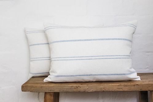 Ivory True Blue Stripped Susie Watson Cushion